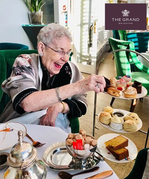 Jackie's Afternoon tea at The Grand Brighton