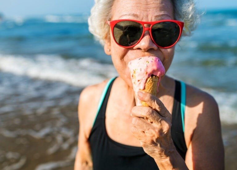 Eating Ice-Cream on a holiday